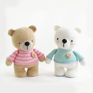 Cute Crochet Teddy Bear Patterns in 2020 | Crochet teddy bear ... | 300x300