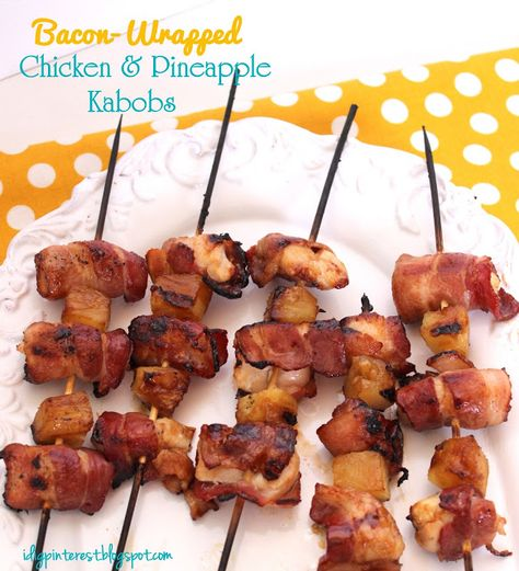 If you enjoy a good grilling recipe, then you'll love Christine's yummy Bacon Wrapped Chicken and Pineapple Kabobs recipe! These can be cooked in the oven too in case you don't own a grill. She giv...