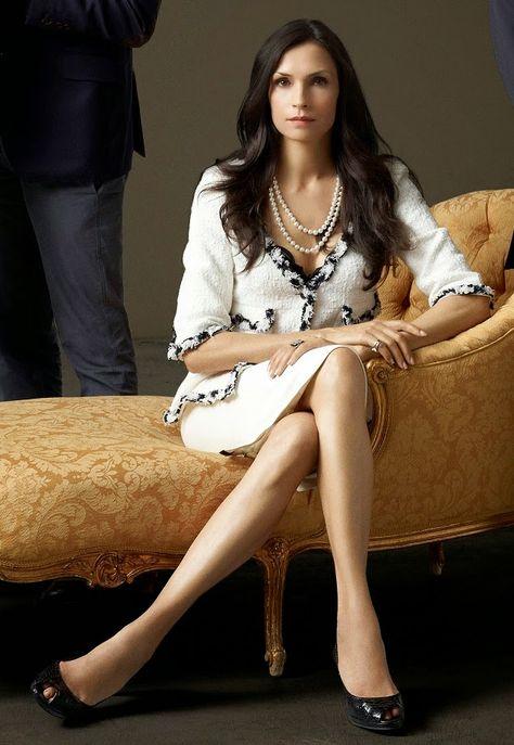 Famke Janssen as Olivia Godfrey in Hemlock Grove. Classic Chanel anyone?