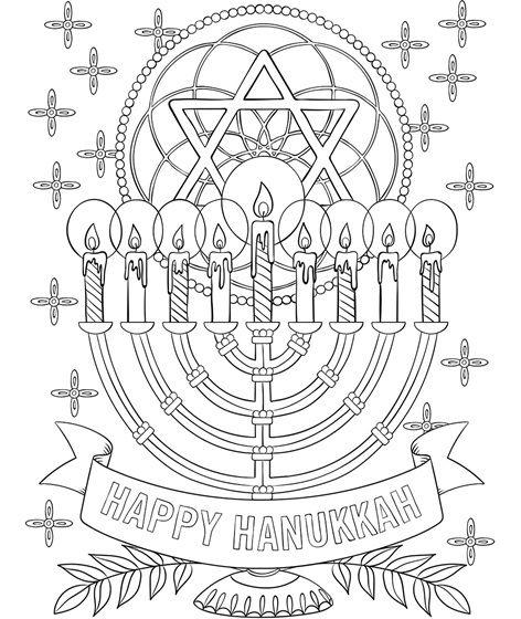 Happy Hanukkah Menorah Coloring Page Crayola Com Kids Crafts