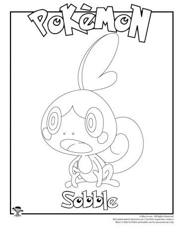 Sobble Coloring Page Woo Jr Kids Activities Pokemon Coloring Sheets Pokemon Coloring Pages Pokemon Coloring