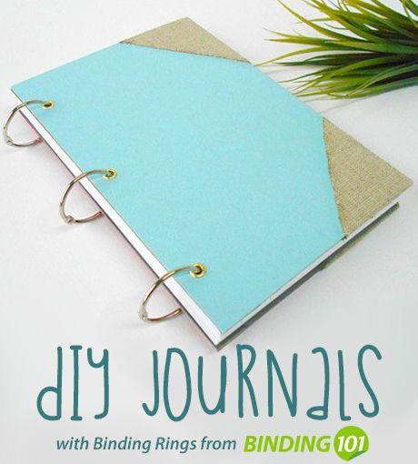 Make Diy Journals With Binder Rings Easy And Cheap Binder Rings At Binding101 Com Book Binding Diy Diy Journal Binder Diy