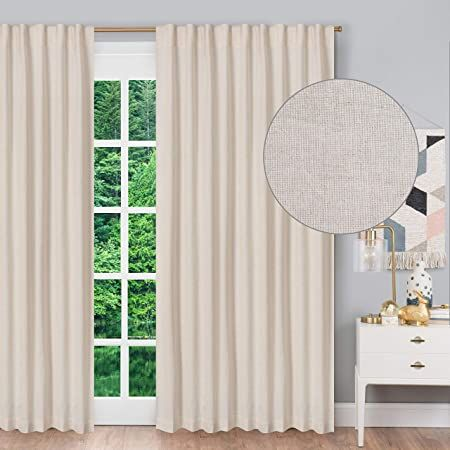 linen cotton tab top curtains