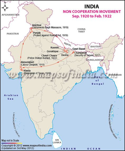 Non Cooperation Movement Ancient Indian History India World Map India Facts