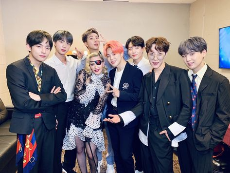 BTS and Madonna At the 2019 BBMAs