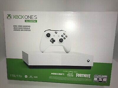 Xbox One S 1tb All Digital Edition Console Minecraft Fortnite Free Shipping Minecraft Game Nowplaying In 2020 Xbox One S Xbox One Xbox