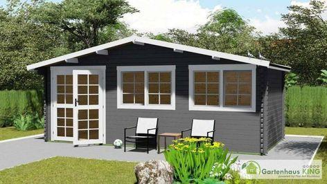 Gartenhaus Holz 6x3m Holzhaus 40mm Blockhaus Geratehaus Schuppen