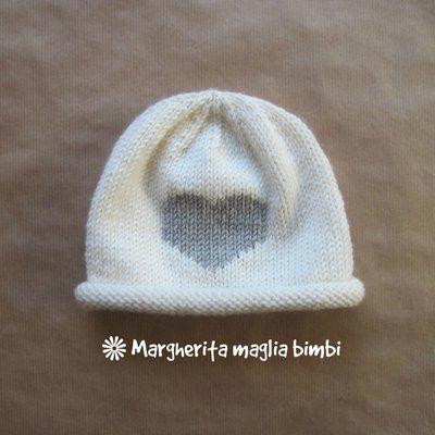 la migliore vendita foto ufficiali stili freschi Berretto/cappello neonato/bambino - lana merino - bianco panna e ...