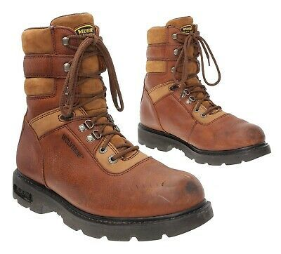 Ebay Sponsored Wolverine Work Boots 11 Ee Mens Vtg Brown Leather Hunting Boots Motorcycle Boots In 2020 Boots Wolverine Work Boots Leather Hunting Boots