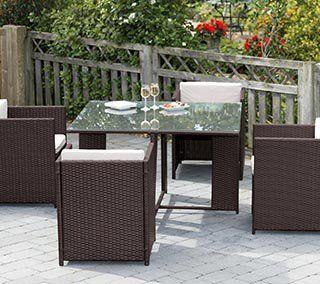 santona rattan garden furniture set 7