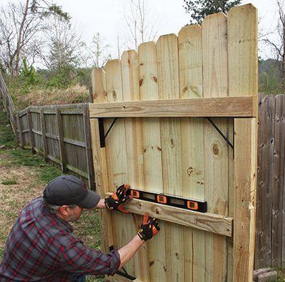 Sagging Fence Gate Wood Fence Gates Fence Gate Patio Fence