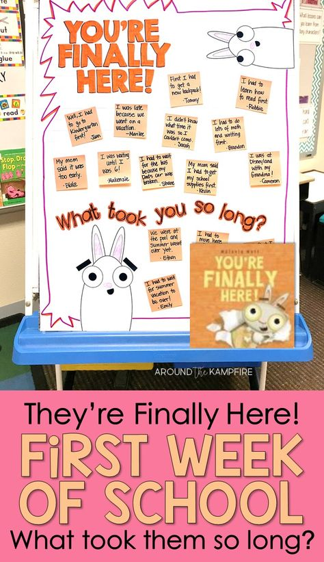You're Finally Here! Our first day of school activities