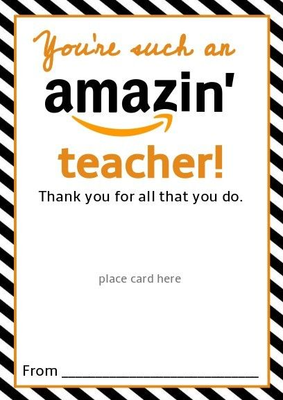 image regarding Amazon Gift Card Printable referred to as No cost Amazon Trainer Reward Card Printable Template - Offer Reward