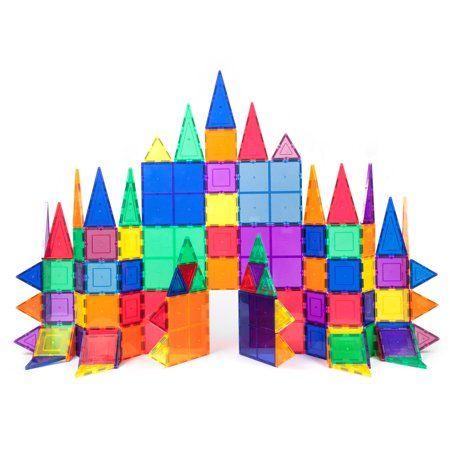 Picasso Tiles 100 Piece 3d Color Magnetic Building Block Stem Set Walmart Com In 2020 Magnetic Building Blocks Toddler Activities Magnetic Toys
