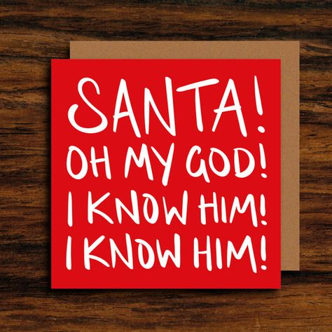 Pack of 10 Square Santa /& Rudolph Christmas Cards Xmas Card Cello Packs