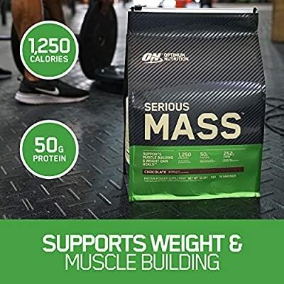 Optimum Nutrition Serious Mass Weight Gainer Protein Powder Vitamin C Zinc And Vitamin D For Immun Optimum Nutrition Protein To Build Muscle Nutrition