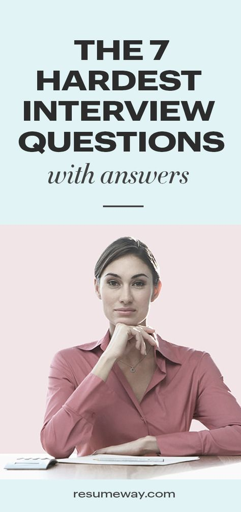How to answer the hardest interview questions can help job-seekers make the best impression. Get expert advice for answering those 7 hardest interview questions. Difficult Interview Questions, Questions To Ask Employer, Interview Skills, Interview Questions And Answers, Job Interview Tips, Job Interviews, How To Interview, Interview Tips Weaknesses, Interview Techniques