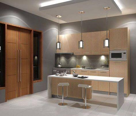 gambar desain dapur rumah minimalis modern   simple