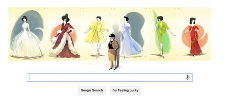 Google Doodle for Oct 28 2013 -- Edith Head!