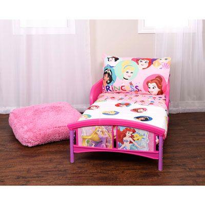 Disney Princess 3 Piece Bedding Set Pink Toddler Bed Princess