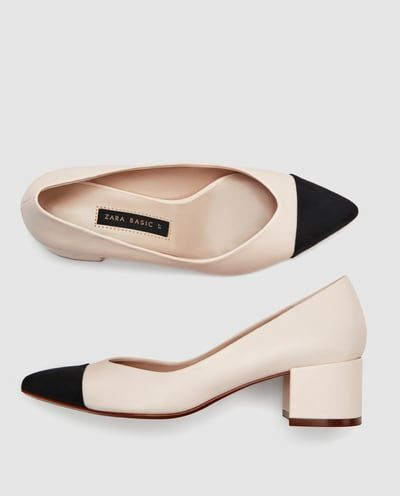 chaussure a talon bicolore