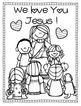 Jesus For Kids Freebie Sunday School Coloring Pages Love Coloring Pages Jesus Coloring Pages