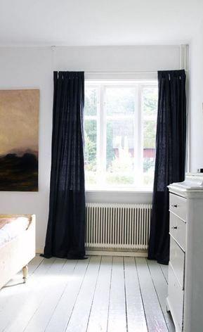 Black Linen Curtain Headboard Curtains Linen Curtains Black