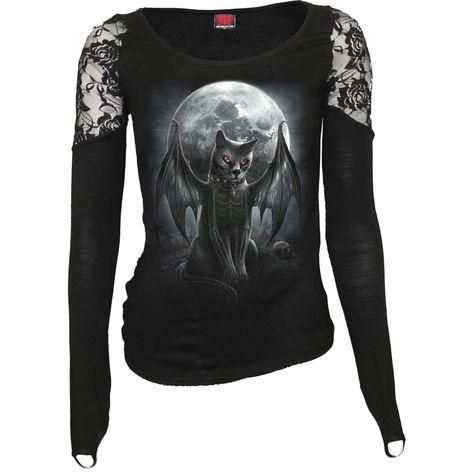 Spiral Direct Wolf Pack Nights Forest Skull Black Short Sleeved Tshirt Top