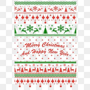 Borders For Christmas New Year Or Design Sweater Ornaments For Scandinavian Pattern Vector Illustration Christmas Sweater Pattern Png And Vector With Transp