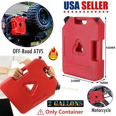 2 Gallon Fuel Pack Spare Container Off Road Atv Polaris Jerry Gas Can In 2020 Gas Cans Atv Diesel Oil