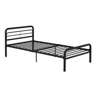 Dhp Metal Twin Bed Black Kids Unisex Metal Beds Bed Frame Headboard Black Bedding
