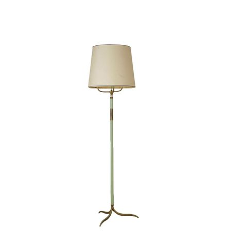 Floor Lamp Brass Fabric Vintage Italy 1940s 1950s Brass Floor Lamp Floor Lamp Floor Lamp Design