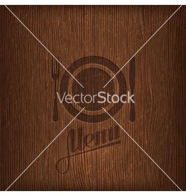 Restaurant menu design on wood background vector image on With images Menu design Menu restaurant Restaurant menu design