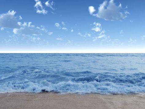 Bereg Voda Volna Volny Goluboe Leto More Nebo Oblaka