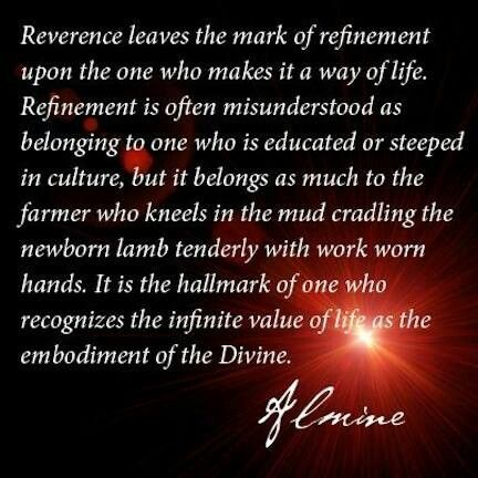 Almineverence for life created by the divine