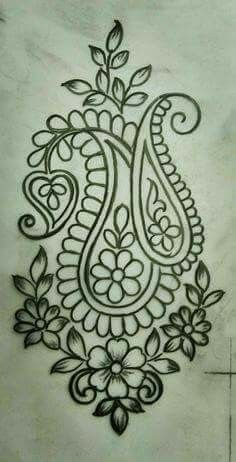 Embroidery sketch designs | Embroidery sketch designs | Embroidery