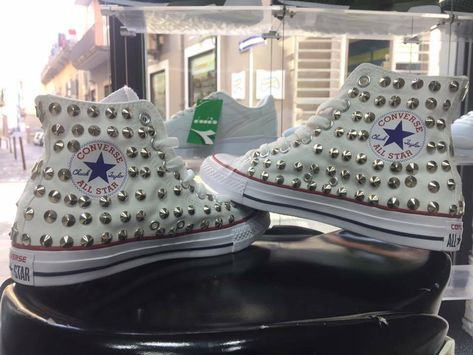 converse all star donna alte borchie
