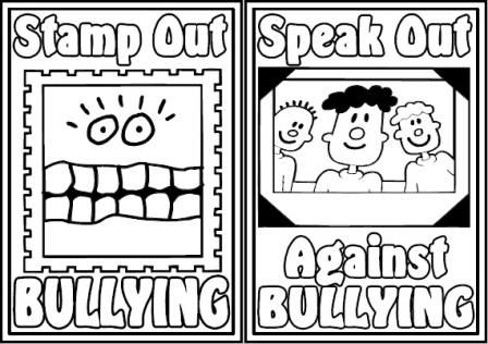 Free Printable Anti Bullying Colouring Pages Bullying Posters