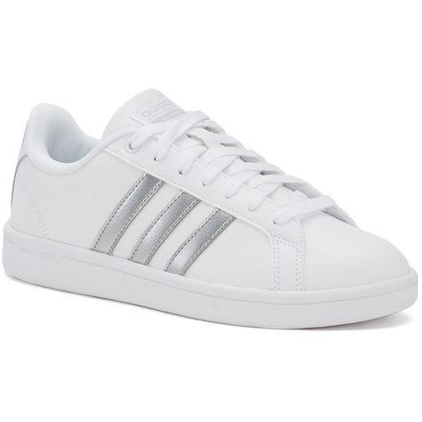e3d499338df Adidas NEO Cloudfoam Advantage Stripe Women s Shoes (210 PEN) ❤ liked on  Polyvore featuring shoes