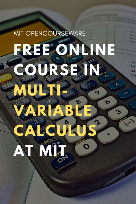 Multivariable Calculus | Free online course for teachers ...