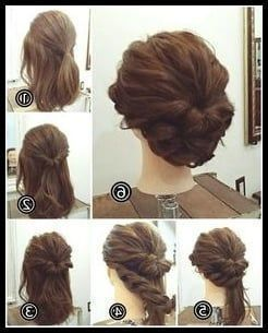 50 60 Simple Step By Step Instructions For Hair For Long Medium And Ku Hair Hairstyle Hairstyles Inst Short Hair Up Short Hair Updo Short Hair Tutorial