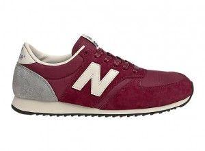 Ufftj New Balance 420 Unisex Running Shoes Classics Red Grey White Womens/ Mens