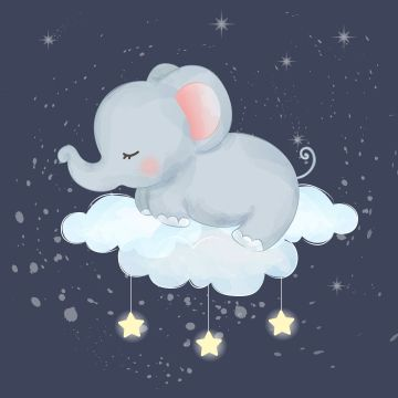 Cute Little Baby Elephant Sleeping Adorable Animal Baby Png And