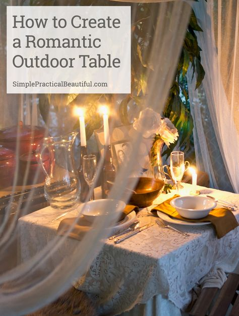 A Romantic Outdoor Dinner Tablescape
