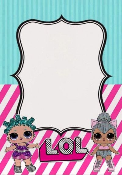 Copia De Copia De Lol Surprise Birthday Invitation
