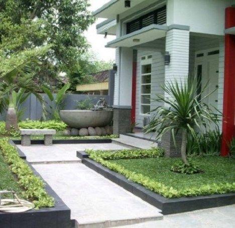 taman dan kolam minimalis depan rumah type 36 - content