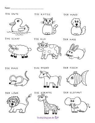 Arbeitsblatter Teddylingua Ausmalbilder Tiere Deutsch Lernen Ausmalen
