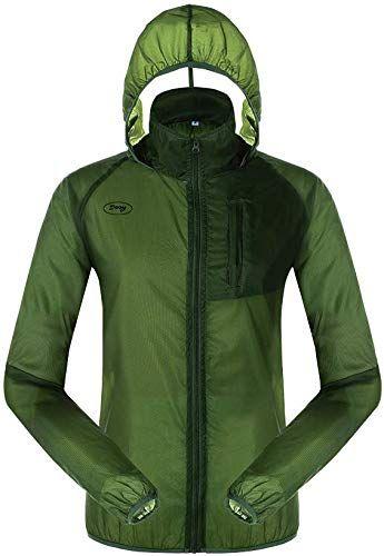 5Oaks Mens Rain Jacket Waterproof Raincoat Hooded Packable Anorak