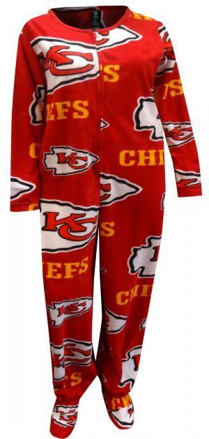 481e6d86 Kansas City Chiefs Ladies Footie Pajama | Adult Footie Pajamas ...