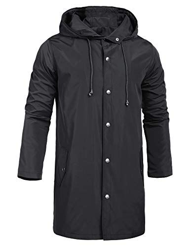 Men Waterproof Windbreaker Hooded Jacket Breathable Outwear Rain Overcoat USA